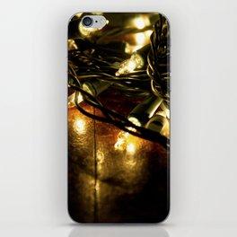 white lights - christmas iPhone Skin