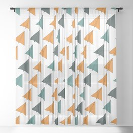 Origami Planes Sheer Curtain