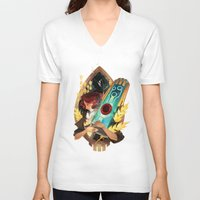 transistor V-neck T-shirts featuring Like It's Written in the Stars - Transistor by Stephanie Kao