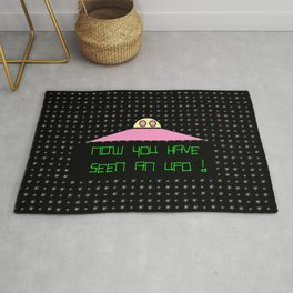 Flying saucer 8 – Now you have seen an Ufo! Rug