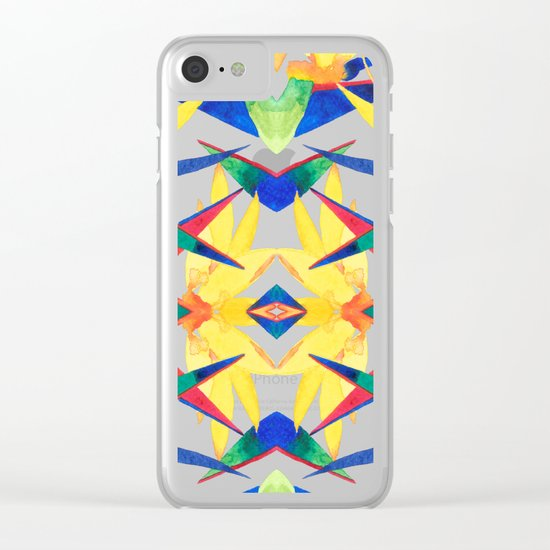 Bird Of Paradise Flash Clear iPhone Case