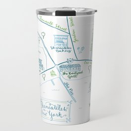 Skaneateles, New York Illustrated Calligraphy Print Travel Mug