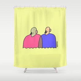 train of thought Shower Curtain