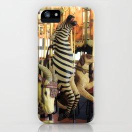 Merrily We Go - Carousel Art iPhone Case