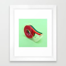 RAINBOW TAPE Framed Art Print