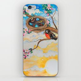Spring: Mother Robin iPhone Skin