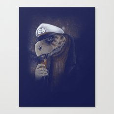 Turtlenecked Sea Captain Canvas Print