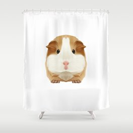 Guinea Pig Just A Girl Loves Wheek Gift Idea Shower Curtain
