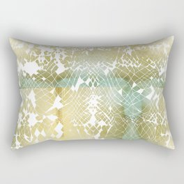 Fractured Gold Rectangular Pillow