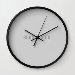 3000x2400 Placeholder Image Artwork (Grey) Wall Clock