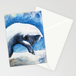 Animal - Antoine the Artic Fox - by LiliFlore Stationery Cards