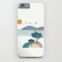 Minimalist Landscape Art II iPhone Case