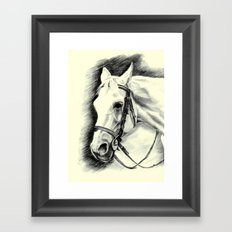 Horse-portrait Framed Art Print