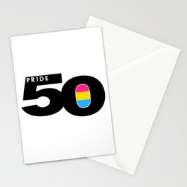 50 Pride Pansexual Pride Flag Stationery Cards