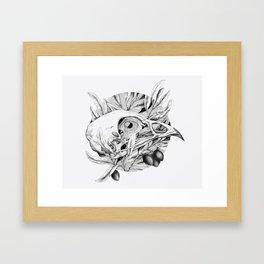 Bones and Olives Framed Art Print