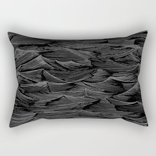 Abstract Waves.... Rectangular Pillow