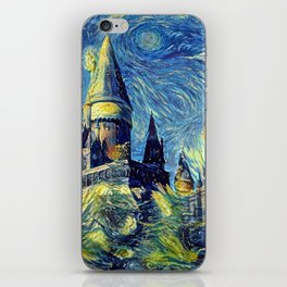 Hogwarts Starry Night Fantasy Castle Tapestry iPhone Skin
