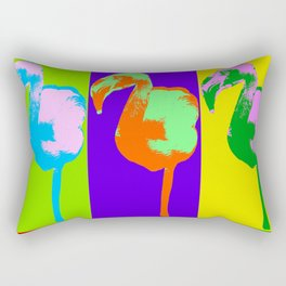 Poster with flamingo in pop art style Rectangular Pillow