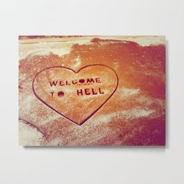 Welcome to Hell Holiday Cookies Metal Print