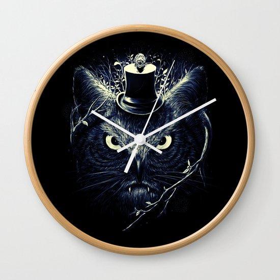 Meowl (Blue) Wall Clock