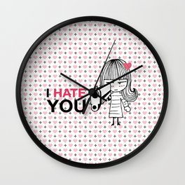I Hate You / Gun Wall Clock