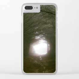 Forest Tunnel - 35mm film Clear iPhone Case