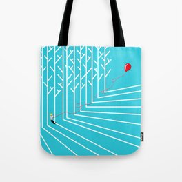 Astro Balloon | My Balloon Friend | Astronaut in Forest | Cosmonaut | pulps of wood Tote Bag
