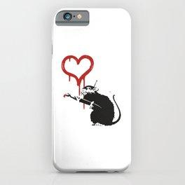 Love rat - Banksy Graffit iPhone Case