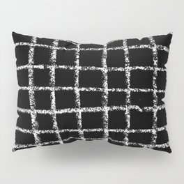 Black and white grid abstract minimal gridded pattern gifts basic nursery home decor Pillow Sham