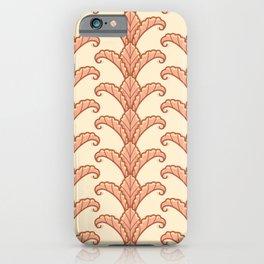 Autumn Leaves Column Pattern iPhone Case