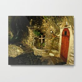 The Monastic Rock Hut of Elder Gerasimos of Kephalonia, Mount Athos Metal Print