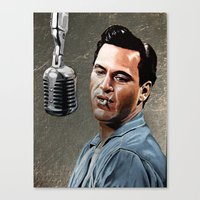 johnny cash Canvas Prints featuring Johnny Cash by Jake Berry