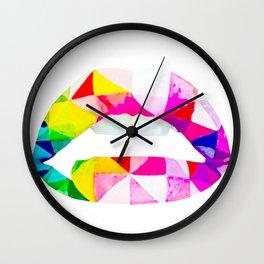 Labios geometricos Wall Clock