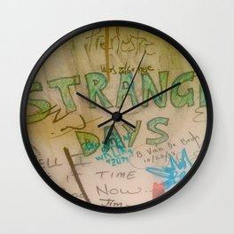 Strange Days Graffiti Morrison Room 32 Wall Clock
