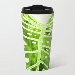 Monstera Leaf - Emerald Green Palette Travel Mug