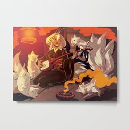 Fox Spirits Metal Print
