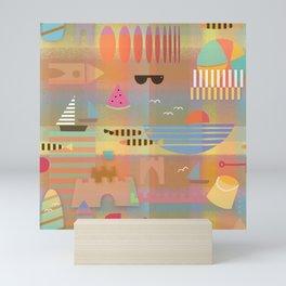 Sandcastles Bauhaus Style Mini Art Print