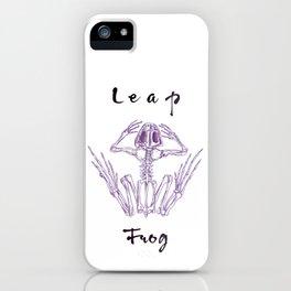 Leap Frog ink illustration iPhone Case