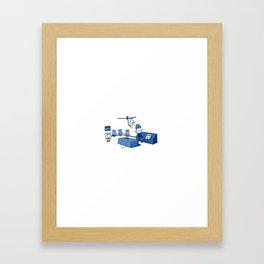 Weekends are Jerks Framed Art Print