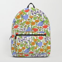 Birds and Wild Blooms Backpack