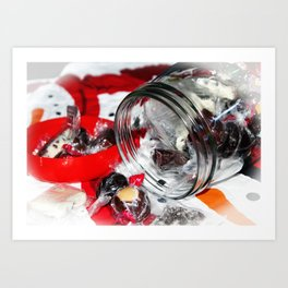 Christmas Candy Jar Art Print