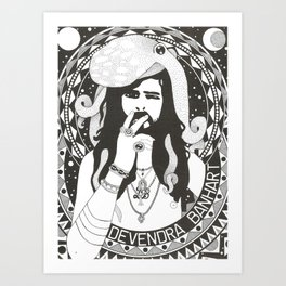 Hommage to Devendra Banhart Art Print