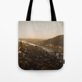 View of Heidelberg from above Tote Bag