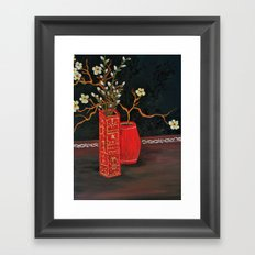Dogwood and Pussy Willow Still Framed Art Print