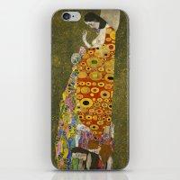 gustav klimt iPhone & iPod Skins featuring Hope II by Gustav Klimt  by Palazzo Art Gallery