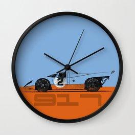 Vintage Le Mans race car livery design - 917 Wall Clock