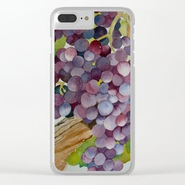 A Glass of Red wine Clear iPhone Case