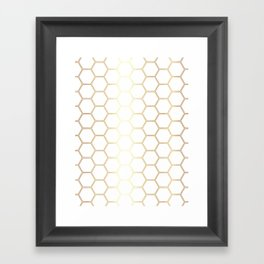 Honeycomb Gold #170 Framed Art Print
