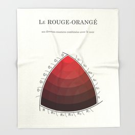 Le Rouge-Orangé (ses diverses nuances combinées avec le noir) Remake (Interpretation) Throw Blanket