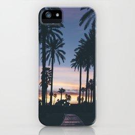 SUNRISE - SUNSET - PALM - TREES - NATURE - PHOTOGRAPHY iPhone Case